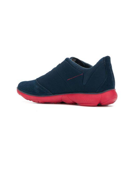Semelle Contrastante Chaussures De Sport - Bleu Geox gl2Zf30