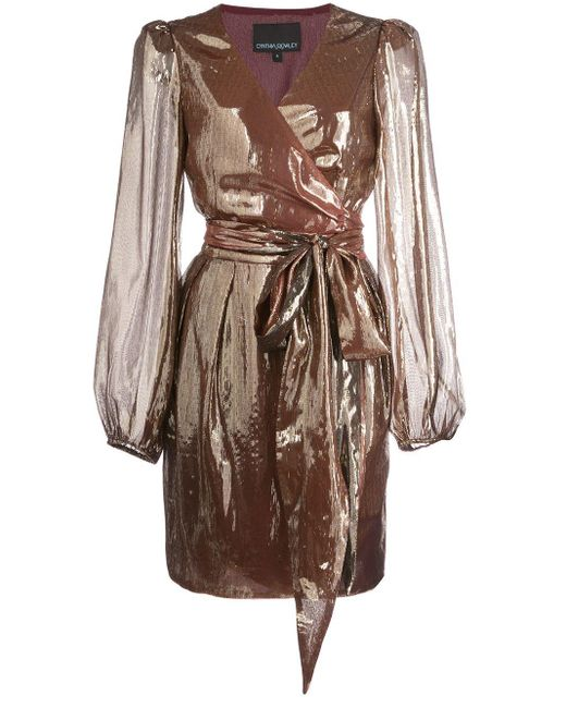 Cynthia Rowley Rocky ラップドレス Metallic
