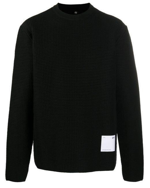 メンズ OAMC ワッフルニット セーター Black
