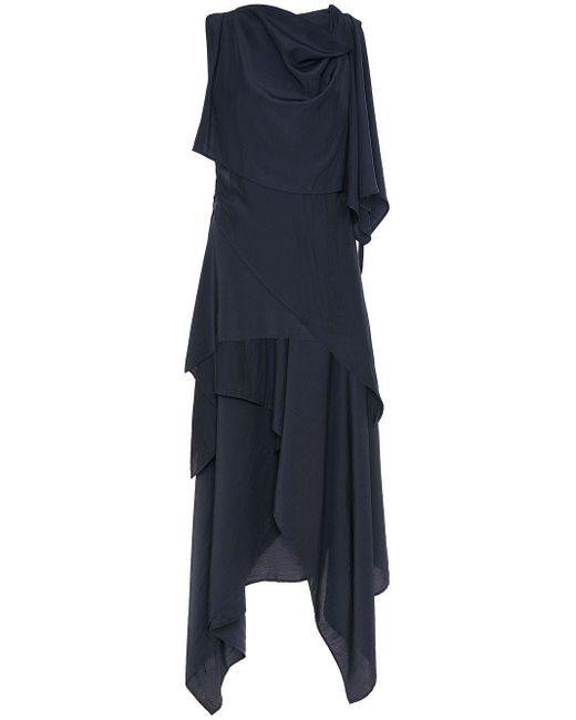 J.W. Anderson ドレープドレス Blue