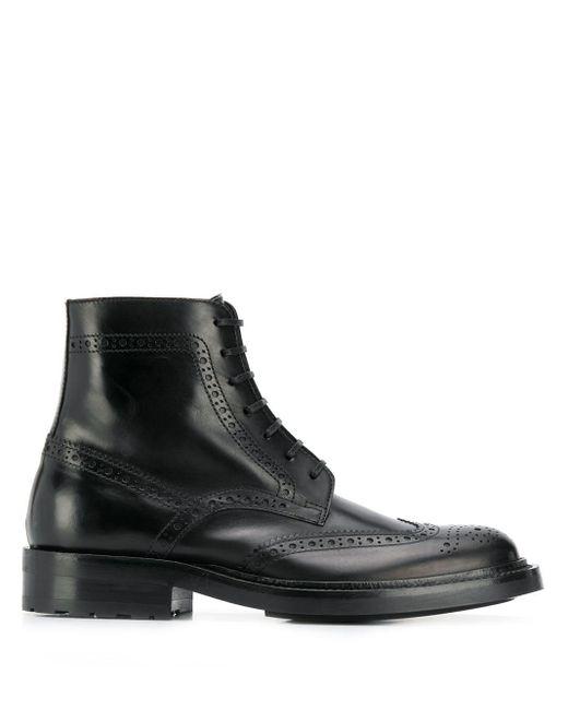 Saint Laurent ブローグ ブーツ Black
