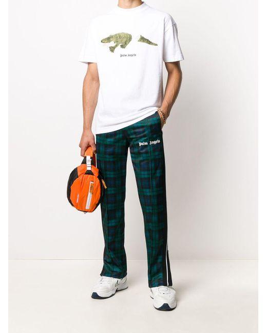 メンズ Palm Angels チェック トラックパンツ Green