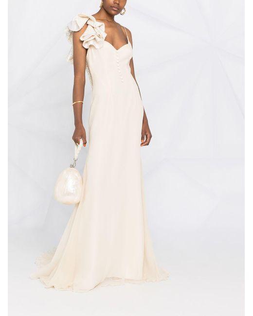 Parlor ラッフルトリム イブニングドレス Multicolor