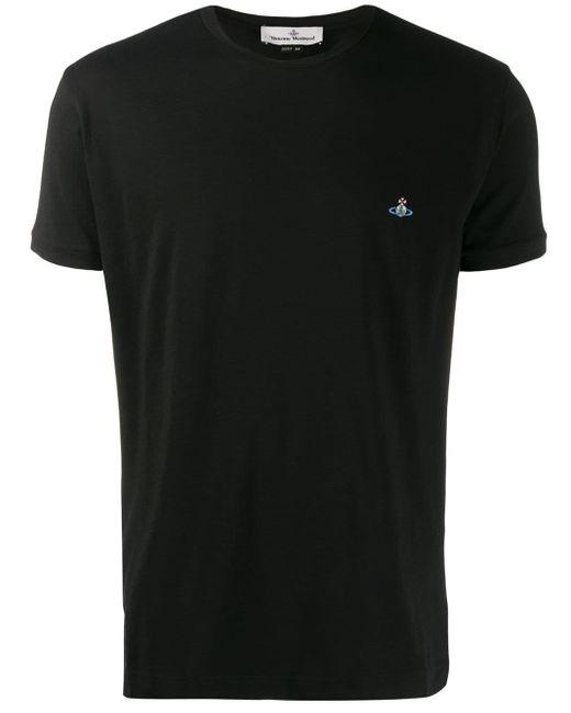 メンズ Vivienne Westwood ロゴ Tシャツ Black