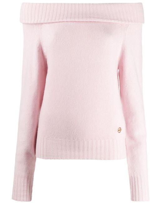 Emilio Pucci オフショルダーカシミアセーター Pink