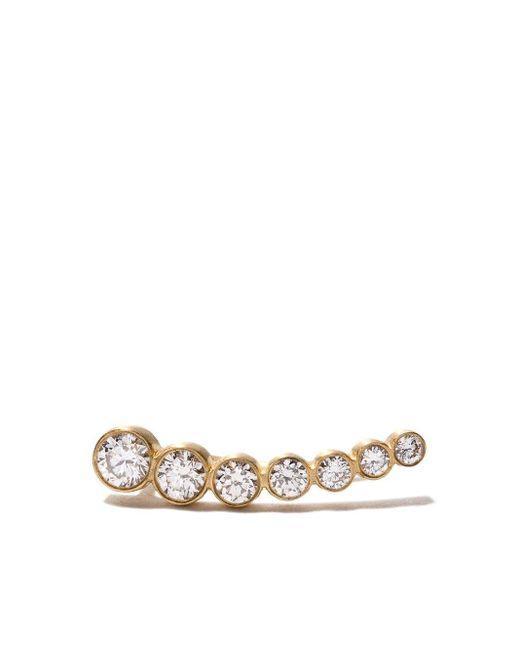 Sophie Bille Brahe Croissant De Lune ダイヤモンド ピアス 18kイエローゴールド Metallic