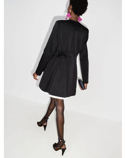Carolina Herrera ブレザースタイル ミニドレス Black