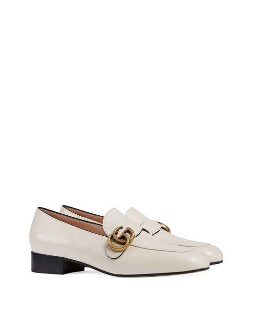 Gucci 【公式】 (グッチ)オンライン限定 ダブルg付き ウィメンズ ローファーホワイト レザーホワイト White