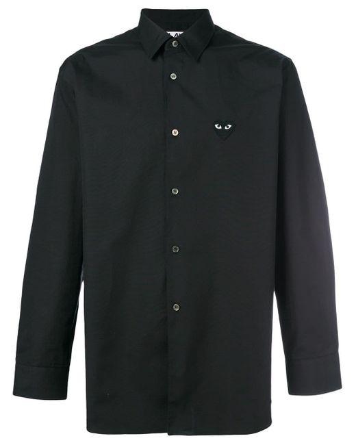 Camisa con detalle de corazón COMME DES GARÇONS PLAY de hombre de color Black
