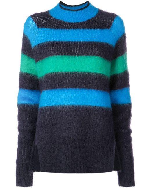 PROENZA SCHOULER WHITE LABEL ストライプ セーター Blue
