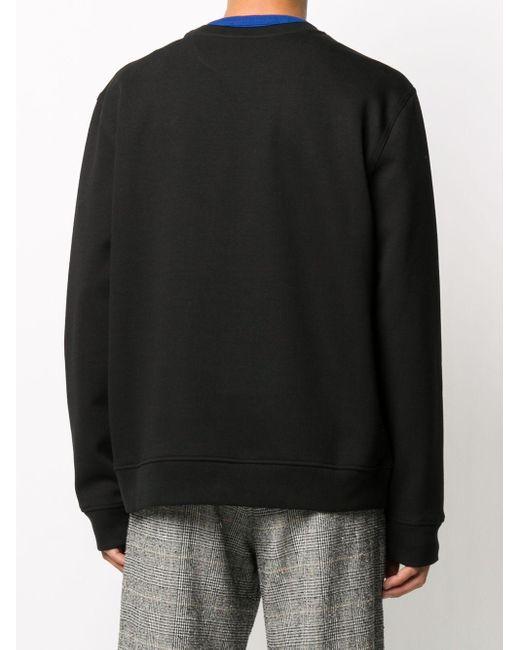 メンズ Valentino クルーネック スウェットシャツ Black
