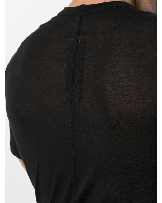 Rick Owens Langes T-Shirt aus Seidengemisch in Black für Herren