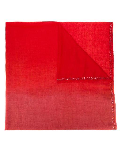 Faliero Sarti ウールスカーフ Red
