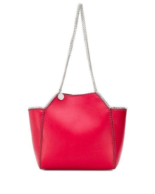 b1c38e9458aa Stella McCartney - Red Falabella Tote Bag Small - Lyst ...
