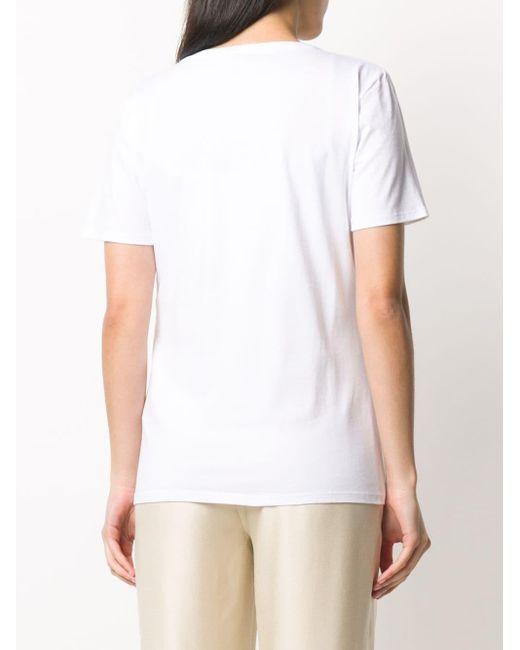 be Blumarine ビジュー Tシャツ White