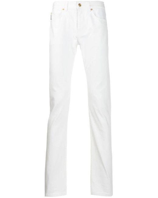 メンズ Versace ストレートジーンズ White