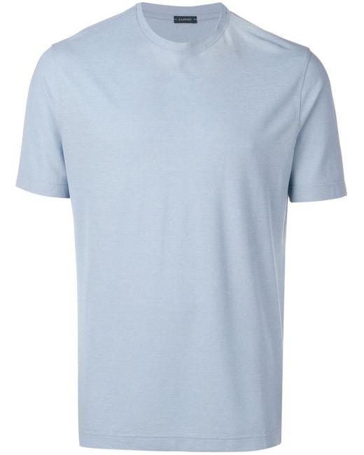 メンズ Zanone ラウンドネック Tシャツ Blue