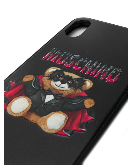 Moschino テディベア Iphone Xs Max ケース Black