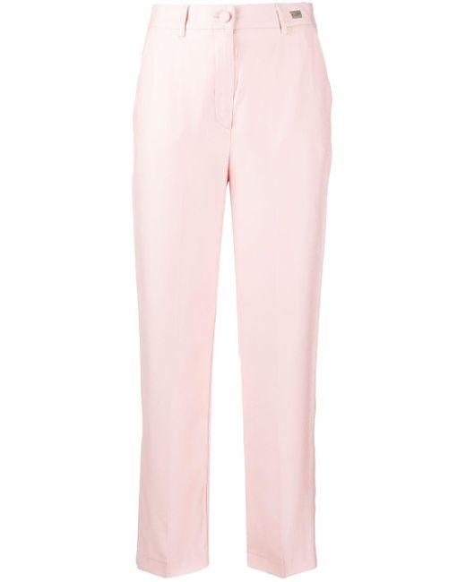 be Blumarine ロゴ ストレートパンツ Pink