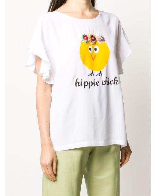 Boutique Moschino プリント Tシャツ White