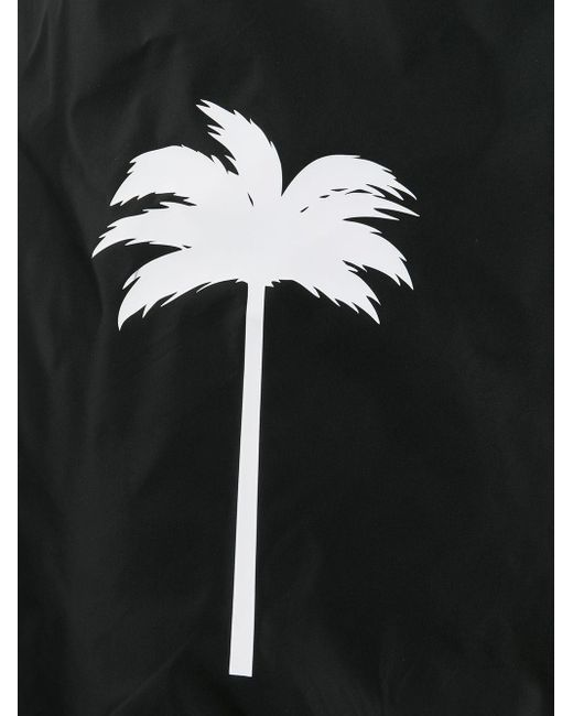 メンズ Palm Angels プリント トランクス水着 Black