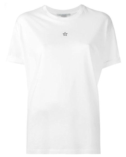 Stella McCartney Camiseta Ministar de mujer de color blanco wCeLG