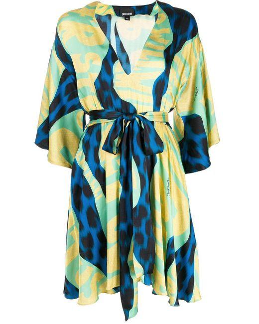 Just Cavalli プリント ドレス Blue