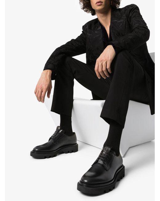 Дерби На Рифленой Подошве Givenchy для него, цвет: Black