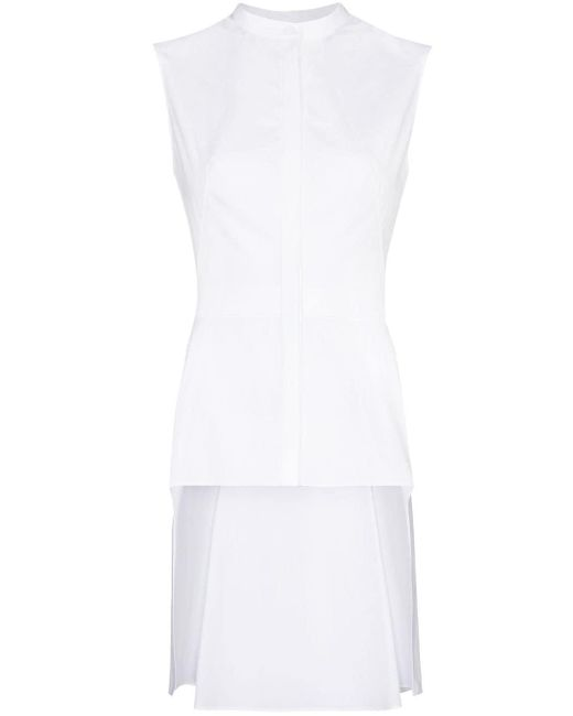 Блузка Асимметричного Кроя Без Рукавов Alexander McQueen, цвет: White