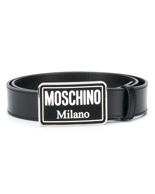 メンズ Moschino バックル ベルト Black