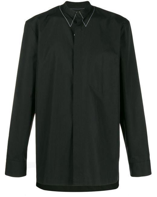 メンズ Maison Margiela ステッチカラー シャツ Black