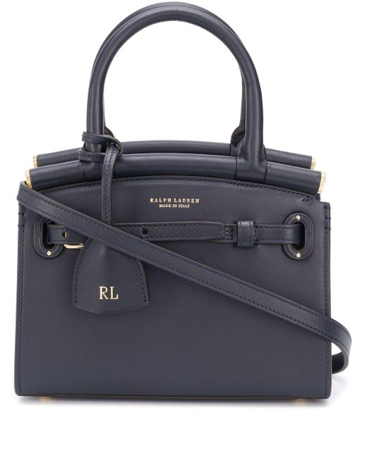 Ralph Lauren Collection Blue The Rl 50 Small Tote Bag
