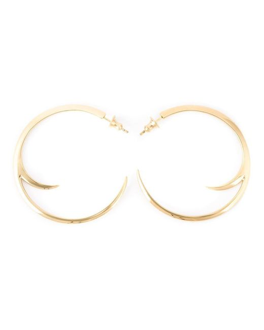 Shaun Leane Metallic Cat Claw Hoop Earrings