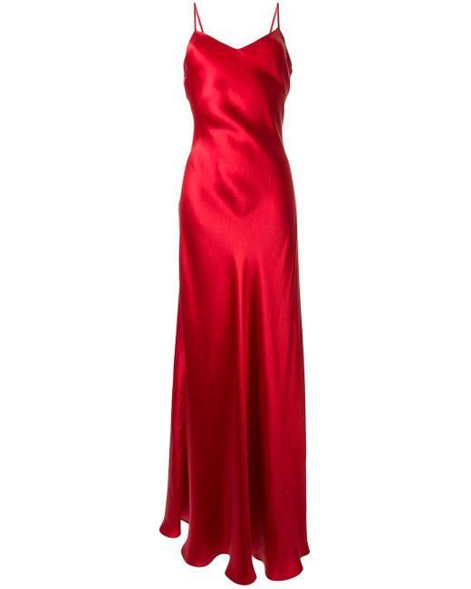Ralph Lauren Collection Evelyn シルク スリップドレス Red