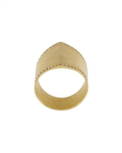 Ileana Makri | Metallic Armor Ring | Lyst