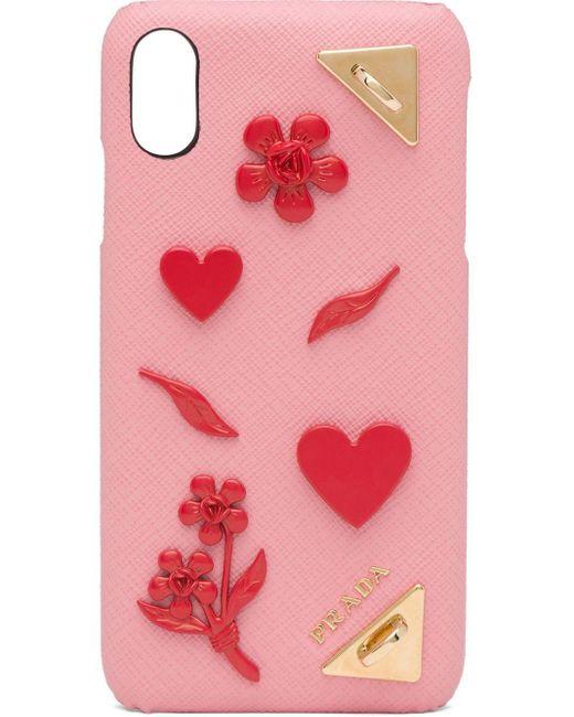 Prada Iphone Xs Max ケース Pink