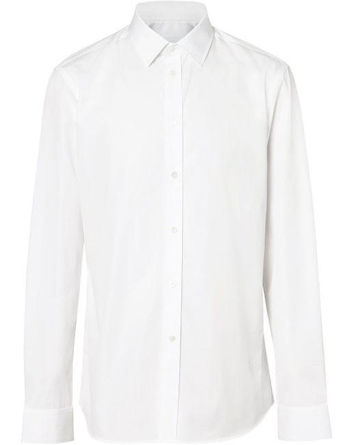 メンズ Burberry モノグラム シャツ White