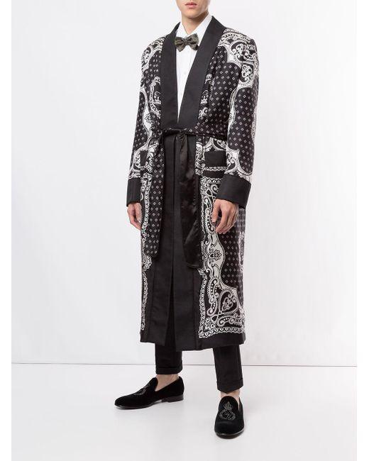 Dolce & Gabbana Badjas Met Print in het Black voor heren