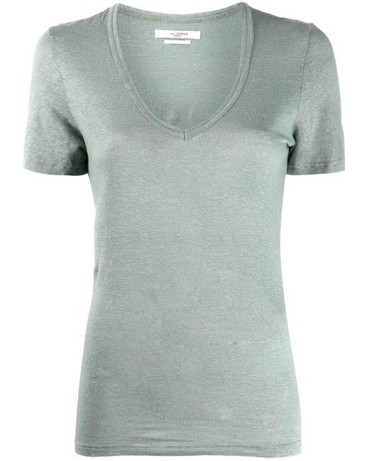 Étoile Isabel Marant Vネック Tシャツ Green