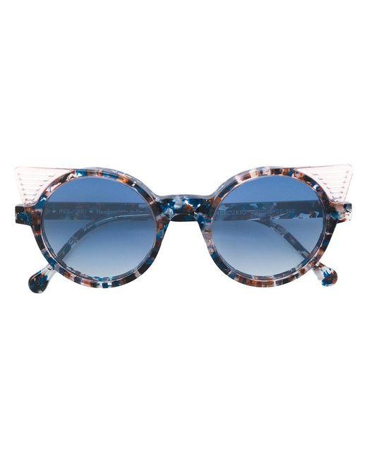 Res Rei - Blue Mercurio Circle Sunglasses - Lyst