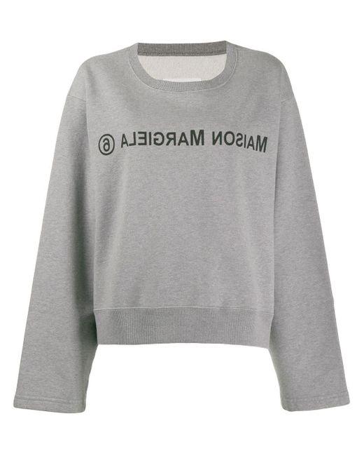MM6 by Maison Martin Margiela ロゴ スウェットシャツ Gray