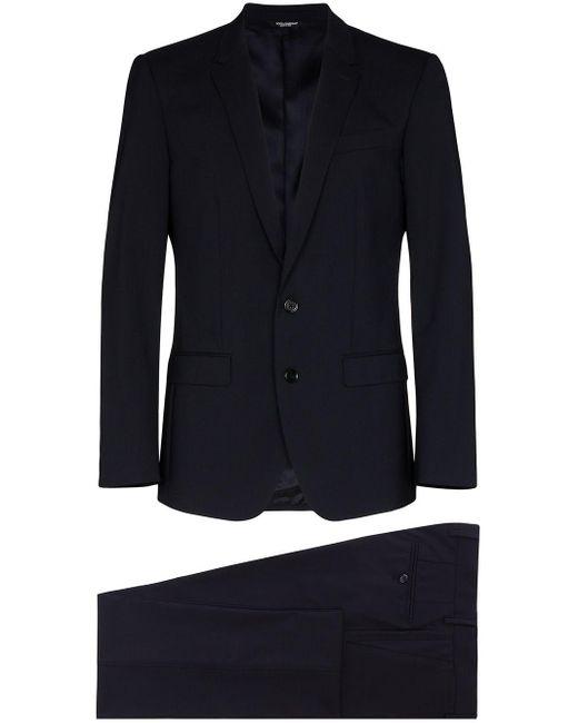 メンズ Dolce & Gabbana シングルスーツ Blue