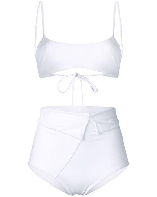 Sian Swimwear ハイウエスト ビキニ White