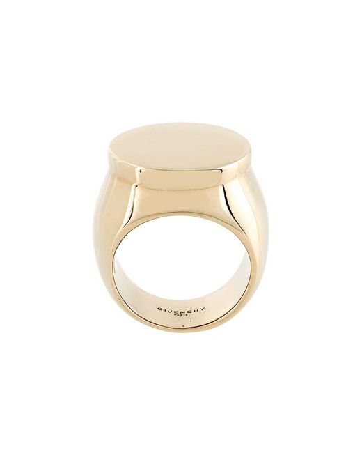 Givenchy - Metallic Flat Top Signet Ring - Lyst