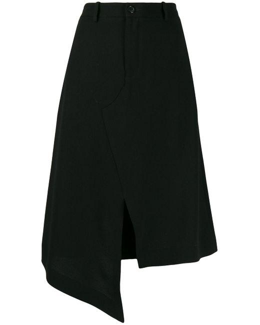 Maison Margiela ブラック アシンメトリ スカート Black