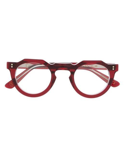Occhiali tondi Pica A4 di Lesca in Red