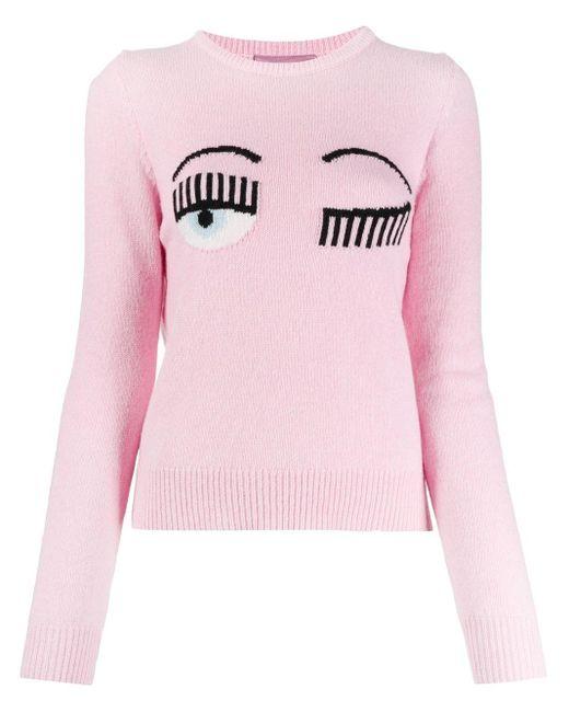 Джемпер Eye Wink Chiara Ferragni, цвет: Pink