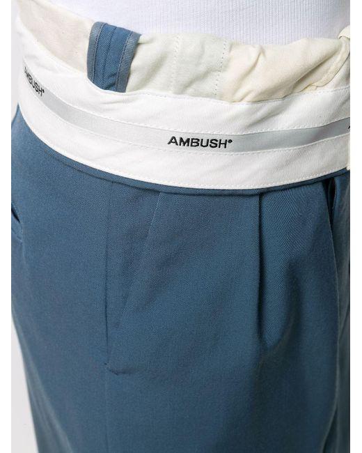 Ambush フォールドウエスト スカート Blue