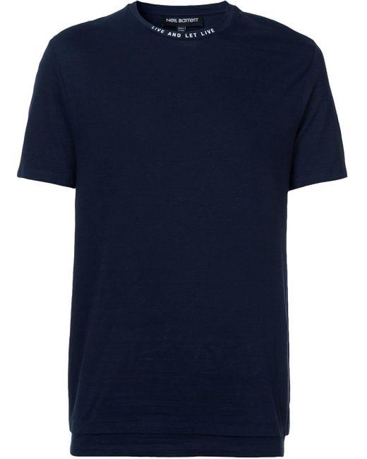 メンズ Neil Barrett コットン Tシャツ Blue