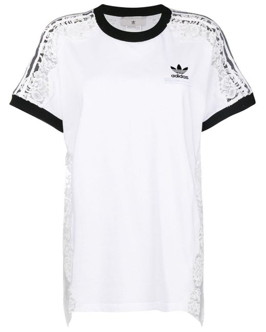 Stella McCartney レースパネル Tシャツ White